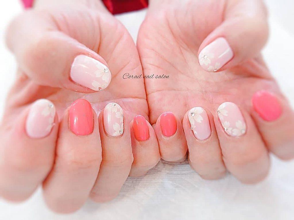 桜ネイル 春ネイル ピンクネイル